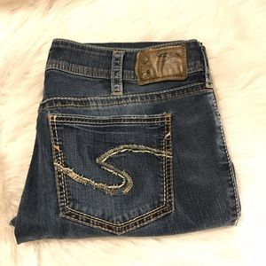 Silver Suki Mid Baby Boot 33x33 Jeans Denim